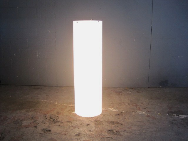 Ceiling Light Cylinder Tube Perspex In White