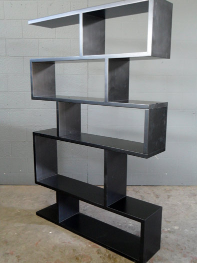 Zig Zag Book Shelf In Black Artappelartappel