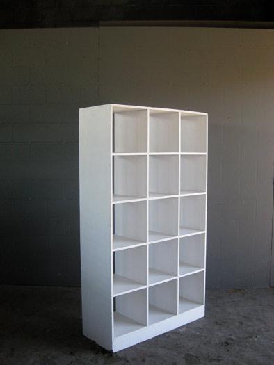 Pigeon Hole Book Shelf In White Artappelartappel