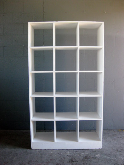 Pigeon Hole Book Shelf In White Artappelartappel