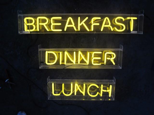Yellow Neon Breakfast Lunch And Dinner Artappelartappel