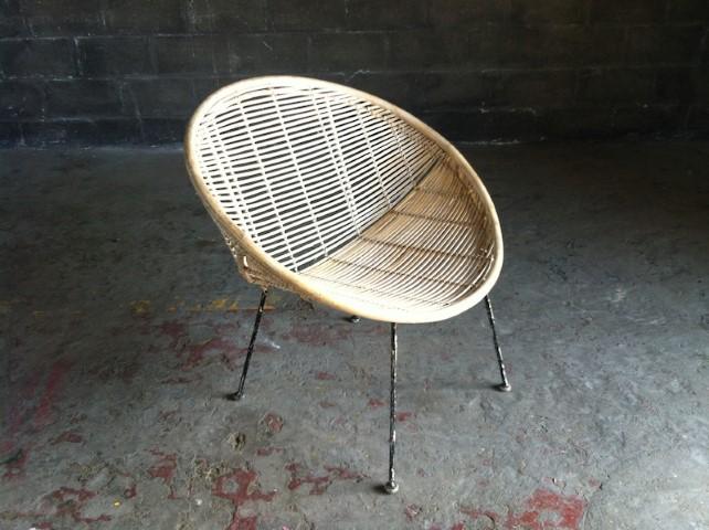 Wicker Outdoor Bucket Chair Artappelartappel