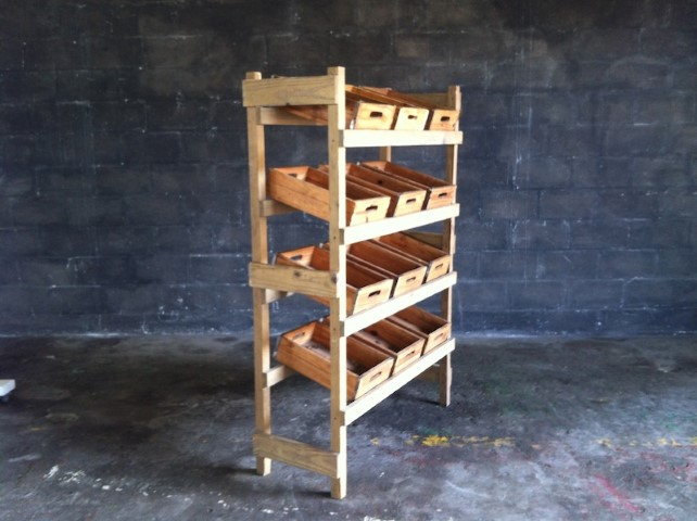 Wooden Fruit Stand With 4 Shelves And 12 Fruit Boxes Artappelartappel