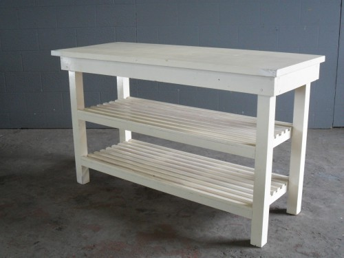 Wooden Kitchen Server Table In Cream